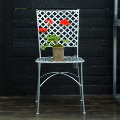 Zinc Lattice Back Chair in Outdoor Living FURNITURE + ACCENTS Furniture Seating at Terrain