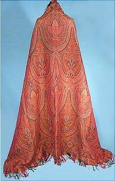 mid-19th Century Woven Paisley Shawl