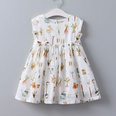 Bear Leader Girls Dress Summer Children Clothing Little Bunny Print Princes Dress Casual Style White Color Kids Clothes Girls Frock Design, Kids Frocks Design, Baby Dress Design, Frocks For Girls, Dresses Kids Girl, Girls Party Dress, Party Dresses, Baby Girl Fashion, Kids Fashion
