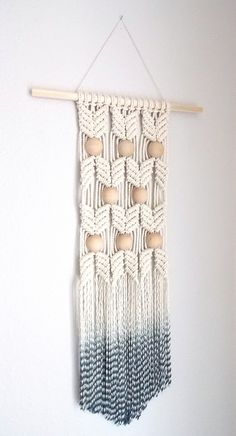 "HIMO ART for Urban Outfitters, Modern Macrame Wall Hanging, Rope art, ""HANE no.2"""
