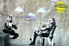 Charles Bukowski and Alf Best Street Art, 3d Street Art, Grafitti Street, Street Art Photography, Graffiti Murals, Funny Ads, Stained Glass Art, Banksy, Urban Art