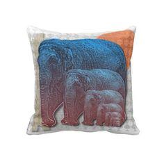 Elphants Throw Pillow