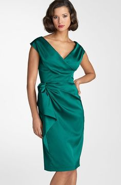 Mother of Bride - Maggy London Stretch Satin Sheath Dress available at #Nordstrom