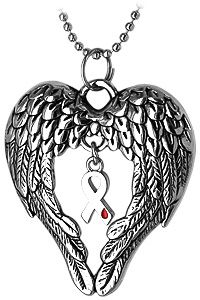 Wings of an Angel Diabetes Awareness Necklace at The Diabetes Site
