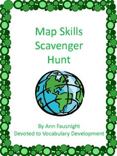 @Heather Kelly (Maybe for History night) Map Skills Scavenger Hunt with 2 bonus activities
