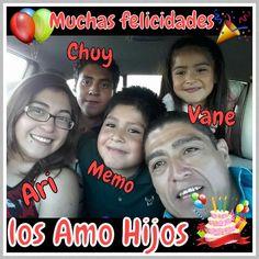 Muchas felicidades a mis hijos, los Amo Mucho. .. Feliz día del niño. ..!!!
