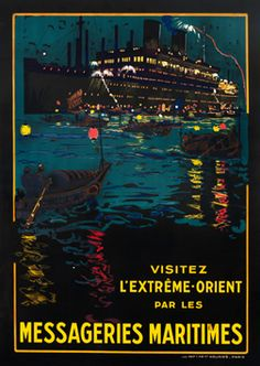 Lachevre, Bernard R. poster: Messageries Maritimes - visitez l