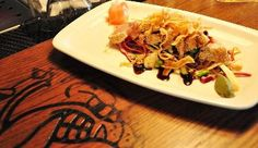 The Bulldog's ocean wise, line caught, Pacific Albacore tuna on Asian slaw with crispy wonton and soy sauce.gotta come try it! Ocean Wise, Crispy Wonton, Vernon Bc, Asian Slaw, Taste Buds, Mexican, Favorite Recipes, Beef, Coffee Shops