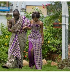 Stunning Kente Styles For Your Engagements African Wedding Attire, African Attire, African Wear, African Dresses For Women, African Fashion Dresses, African Women, African Outfits, African Traditional Wedding, African Traditional Dresses