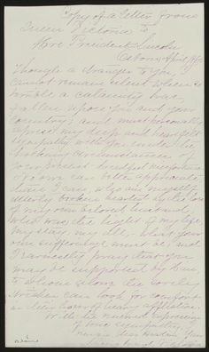 letter from Queen Victoria to Mary Todd Lincoln