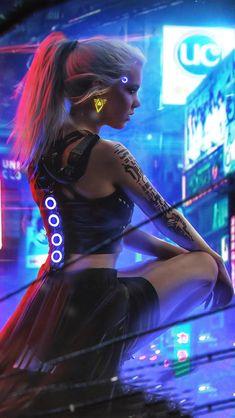 Cyberpunk Neon Girl 4k In 640x1136 Resolution Cyberpunk City, Cyberpunk 2077, Cyberpunk Kunst, Cyberpunk Aesthetic, Phone Background Wallpaper, 3840x2160 Wallpaper, Game Wallpaper Iphone, Iphone Wallpapers, Neon Girl
