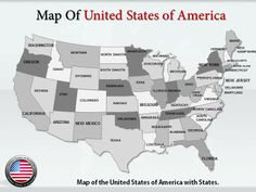 Editable USA Map With ElementsPP PowerPoint Templates - Editable us map with states