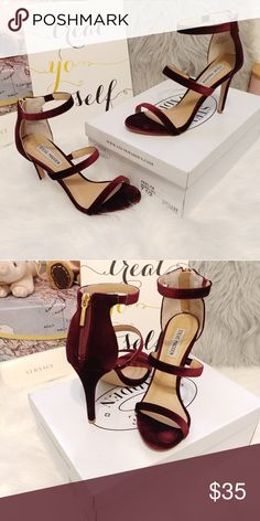 Burgondy Feelya Steve Madden Heels Burgondy red Feelya heels from Steve Madden Womens Size 7.5 Comes with original box Great condition; worn only once. Steve Madden Shoes Heels