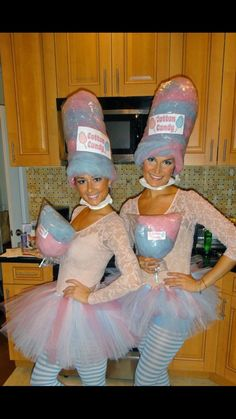 Cotton Candy Halloween Costume, Circus Halloween Costumes, Theme Halloween, Halloween Diy, Halloween Tricks, Homemade Costumes, Diy Costumes, Costume Ideas, Candy Land Costumes