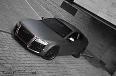 Audi A5 Coupe by Project Kahn – Matte Pearl Grey Paint Car Front Angle Top View