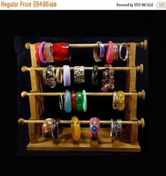ON SALE Mission Style 4 Wand Standing Bracelet Holder