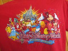 Walt Disney World Red T-Shirt Adult Large Magic Kingdom L Celebrate Every Day