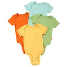 Love the size changes...they grow so fast! DISNEY CUDDLY BODYSUIT™ - Winnie the Pooh Colorful Solids 4-Pack