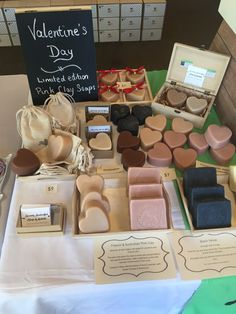 My market stand of natural soaps.