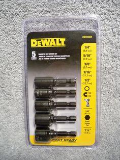 """DeWalt DW2235IR 5 pc. Magnetic Impact Nut Driver Set w/ 1/4"""" Shank #DEWALT"""