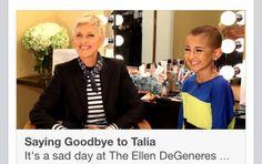 The Ellen Show.  : '(   #taliajoy18