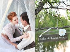 Row boat wedding photos. Anne of Green Gables inspired wedding shoot. http://www.jessicazaisblog.com/weddings/anne-of-green-gables-wedding-inspiration-photos/