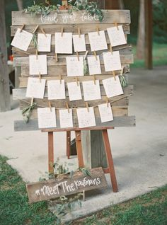 Greenery Wedding Seating Chart