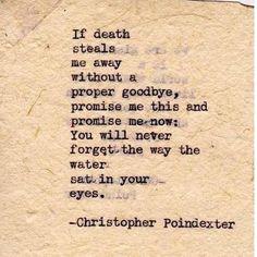 Their tears were their love poem