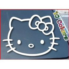 """Window Vinyl Decal Sticker wide 4 of Hello Kitty car """"(Color: White) Car Sticker (parallel import goods) (japan import) - http://www.caraccessoriesonlinemarket.com/window-vinyl-decal-sticker-wide-4-of-hello-kitty-car-color-white-car-sticker-parallel-import-goods-japan-import/  #Color, #Decal, #Goods, #Hello, #Import, #Japan, #Kitty, #Parallel, #Sticker, #Vinyl, #White, #Wide, #Window #Hello-Kitty"""