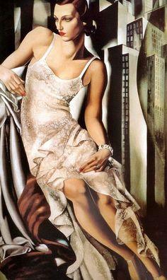 Portrait of Mrs Alan Bott, Tamara De Lempicka (1898-1980). http://www.tamara-de-lempicka.org/Portrait-of-Mrs-Allan-Bott,-1930.html