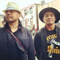 Shinsuke Nakamura and Kazuchika Okada in Philadelphia.