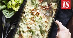 Uunilohta voi valmistaa monin eri tavoin. Näin suosikkijuontaja kokkaa sen omalle perheelleen.