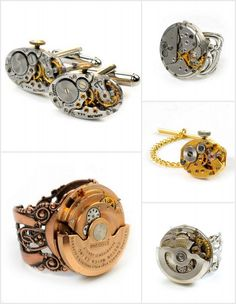 Cool steampunk jewelry on Etsy.