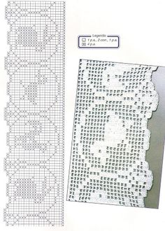 crochet - filet edgings - barrados / bicos filet – Raissa Tavares – Webová alba Picasa