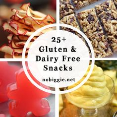 25 snack ideas for gluten free dairy free diet lactose free diet gluten free and dairy free snacks Gluten Free Cooking, Vegan Gluten Free, Gluten Free Recipes, Paleo, Dairy Free Recipes For Kids, Gluten And Dairy Free Kids, 7 Keto, Lactose Free Diet, Sem Lactose