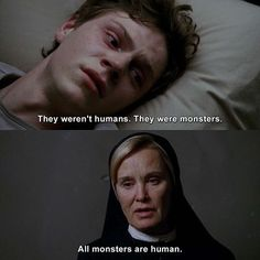 BROTHERTEDD.COM American Horror Story Theme, The Americans Fx, Best Movie Quotes, Tv Quotes, Funny Quotes, Horror Quotes, Kit Walker, Anthology Series, Poems Beautiful