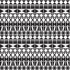 Tribal Monochrome by Bard Sandemose available for download as a vector file on patterndesigns.com