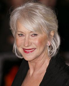 Short Hairstyles For Older Women. The lack of fullness in the crown helps this style more modern.