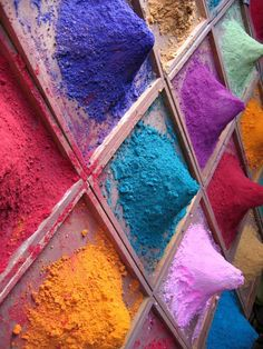 Holi colours Holi Festival Of Colours, Holi Colors, Holi Powder, Hindu Festivals, Incredible India, The Incredibles, Indian Curry, Uni, Inspiration
