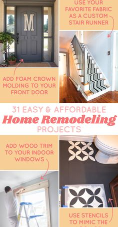31 Affordable Remodeling Projects You Can Actually Do Yourself-These are all GREAT!