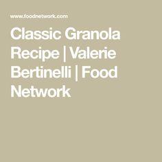 Get Classic Granola Recipe from Food Network Cinnamon Almonds, Sliced Almonds, Appetizer Recipes, Appetizers, Valerie Bertinelli, Golden Raisins, Granola, Finger Foods, Finger Food