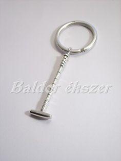 Ezüst lovaspóló ütő kulcstartó Equestrian, Horse, Personalized Items, Sports, Silver, Money, Sport, Horses, Hunter Jumper