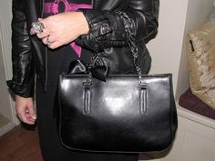 Leather bag redo DIY
