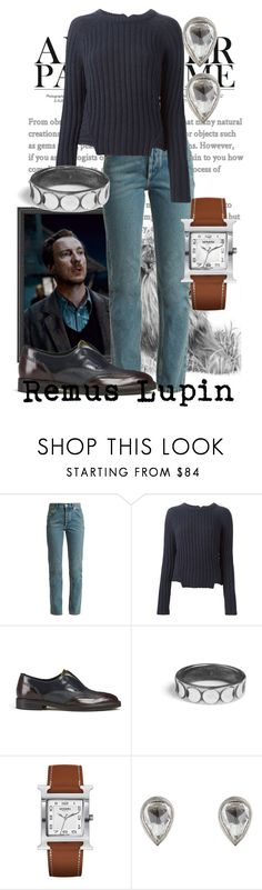 """Werewolf"" by raecycle ❤ liked on Polyvore featuring Balenciaga, Marc by Marc Jacobs, H by Hudson, Rachel Entwistle, Hermès, Tate, harrypotter, movies, books and remuslupin"
