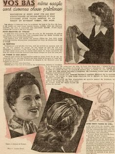 ".Wartime ""make-do"" use for old stockings."