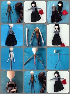 Beautiful bendy doll to makeru Inspired by illustration done by OF Echi. Doll Crafts, Diy Doll, Sewing Crafts, Doll Clothes Patterns, Doll Patterns, Needle Felting Tutorials, Creation Couture, Hand Embroidery Designs, Fairy Dolls