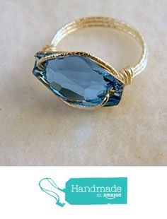 Sterling Silver Aquamarine Crystal Statement Ring from S L Jewelry Designs http://www.amazon.com/dp/B015LB1HPY/ref=hnd_sw_r_pi_dp_FQsnwb0FK25JN #handmadeatamazon
