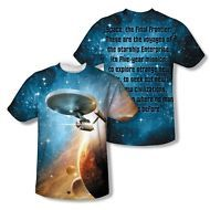 Star Trek USS Enterprise Final Frontier 2-Sided All Over Print Poly Shirt S-3XL