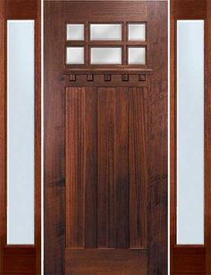 Craftsman Wood Exterior Entry Front Door With Sidelights And Grey Painted  Wall Decor 20 Amazing Craftsman Front Door Doors Craftsman Front Door  Styles ...