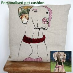 What I Always Wanted   Cushion cover personalised with an image of your own dog or cat